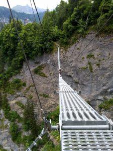 Pelottava silta Via Ferratalla