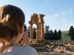 Valokuvausta Valle dei Templillä
