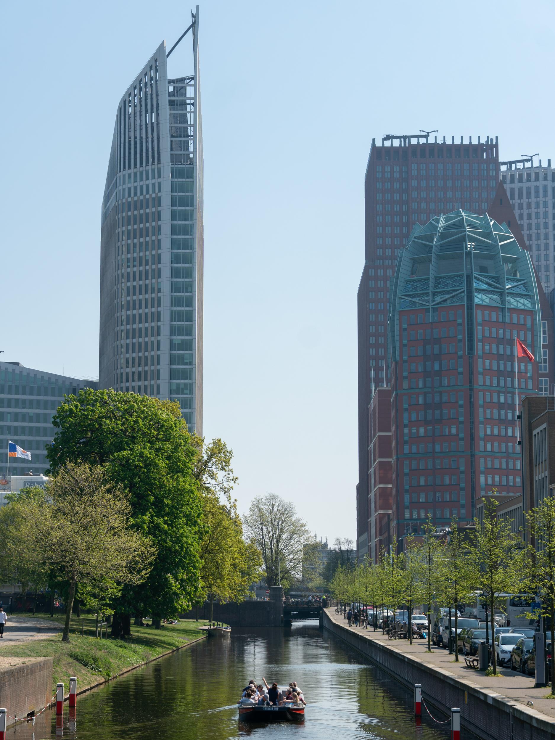 Korkeita taloja Haagissa