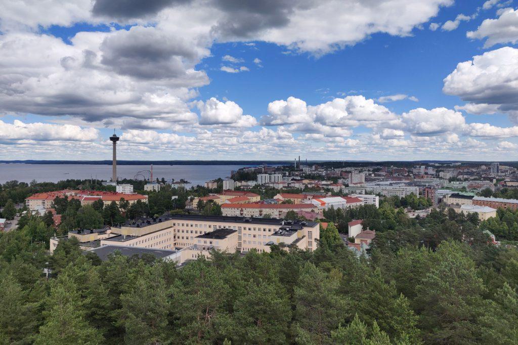 Tampere, näkymä Pyynikin näkötornista