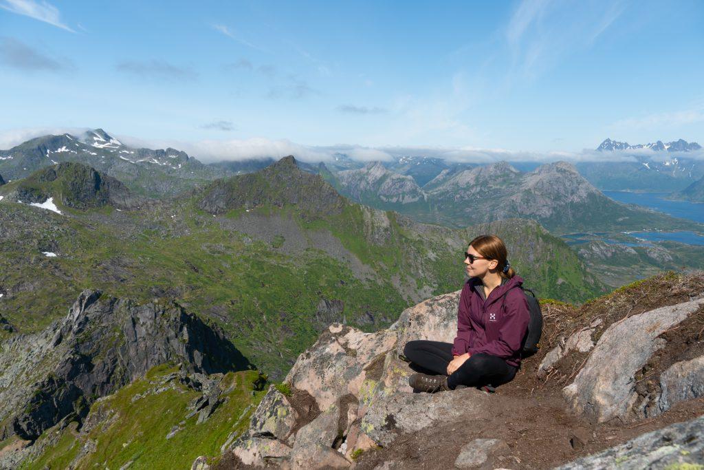 Minä Fløyalla. Lofooteilla, Norjassa