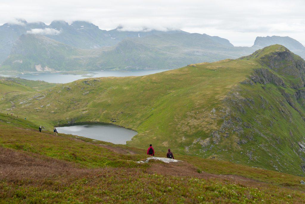 Kävelemässä pois Ryteniltä, Lofootit, Norja