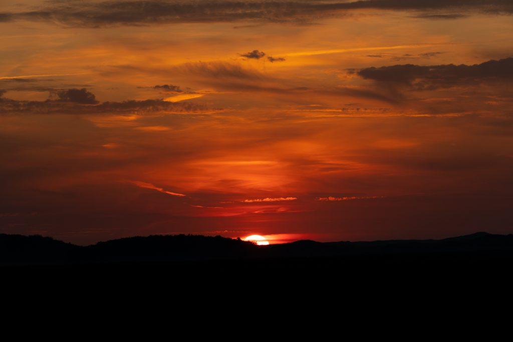 Auringonlasku Texelissä