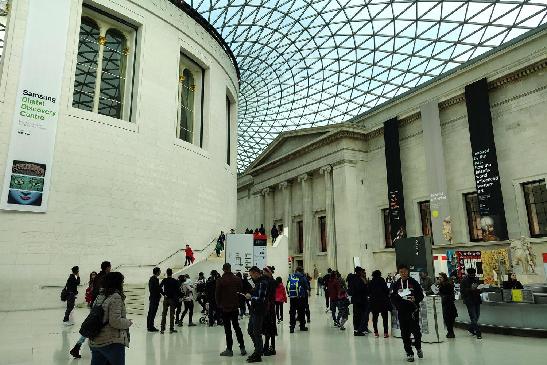 British Museumin näyttävä aula
