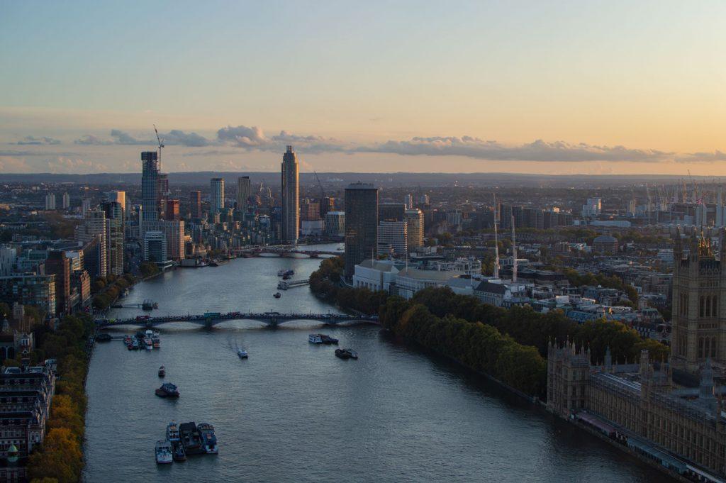 Näkymät Thamesille London Eyesta