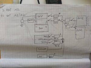 Paperille piirretty sähkökaavio