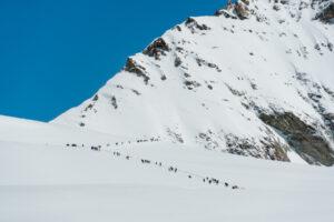 Jungfraujoch ihmisjono