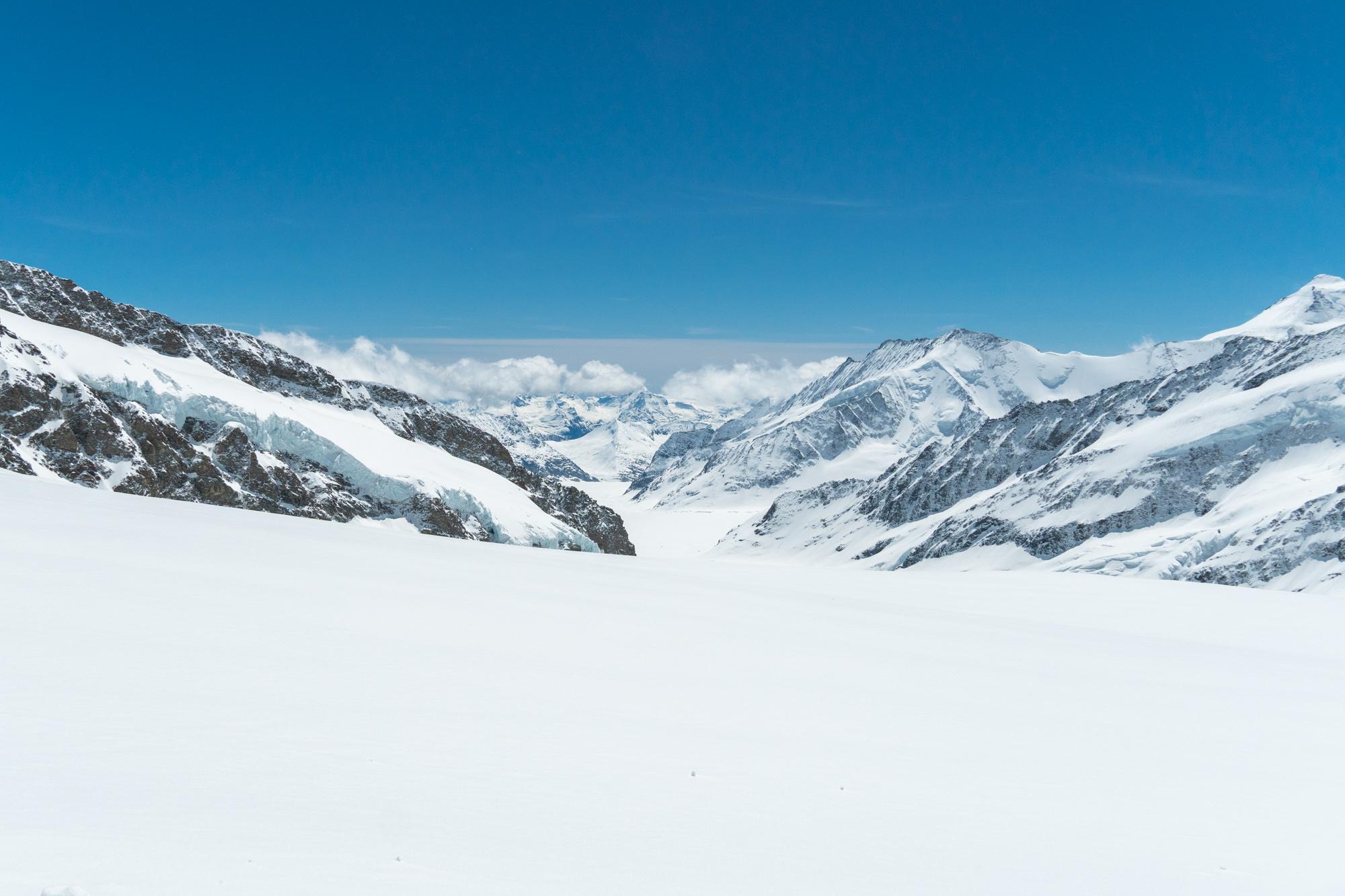 Jungfraujoch jäätikkö