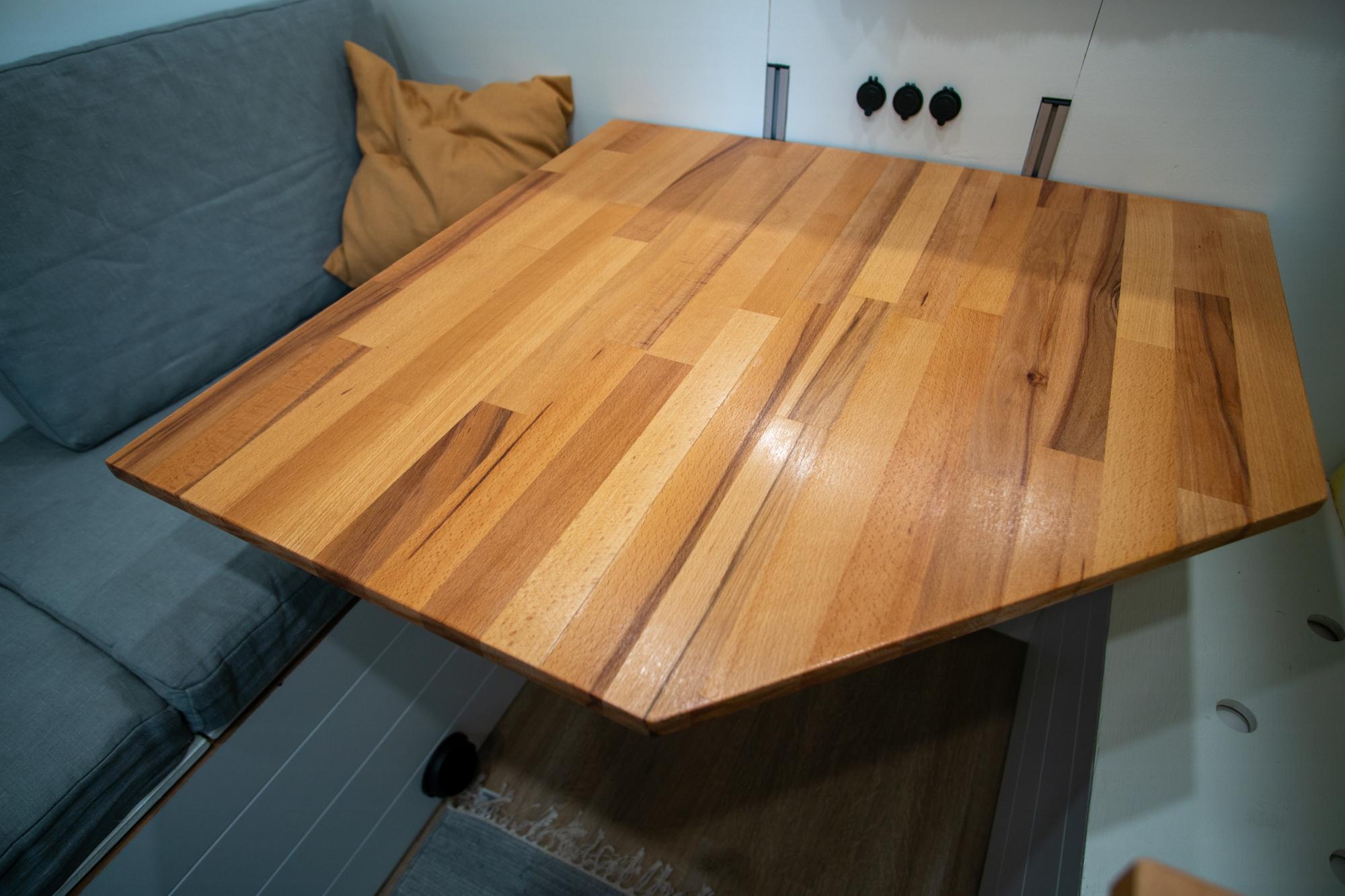 Iso pöytä pakussa mahdollistaa etätyöskentelyn